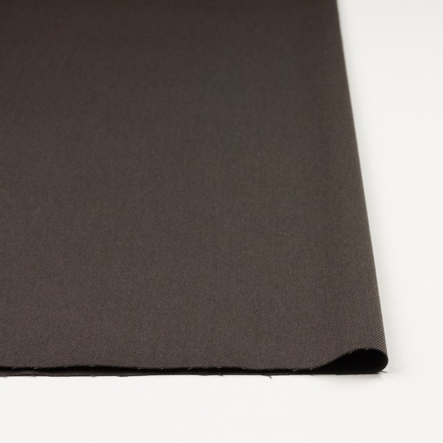 コットン&ポリノジック混×無地(アッシュブラウン)×サージストレッチ_全2色 イメージ3