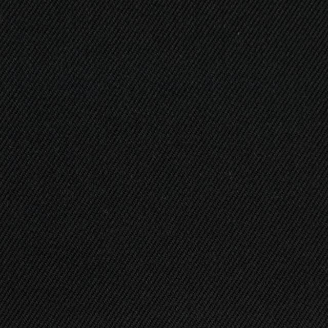 コットン&ポリノジック混×無地(ブラック)×サージストレッチ_全2色 イメージ1