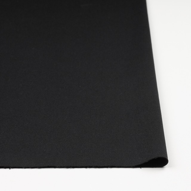 コットン&ポリノジック混×無地(ブラック)×サージストレッチ_全2色 イメージ3