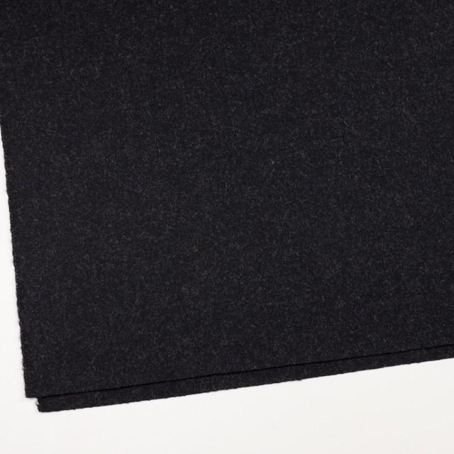 ウール×無地(チャコールブラック)×ツイード_イングランド製 イメージ2