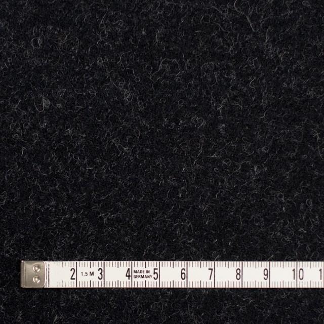 ウール×無地(チャコールブラック)×ツイード_イングランド製 イメージ4