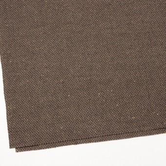 ウール×ミックス(ブラウン)×斜子織 サムネイル2