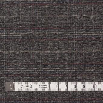 ポリエステル&レーヨン混×チェック(グレイッシュブラウン)×サージストレッチ サムネイル4