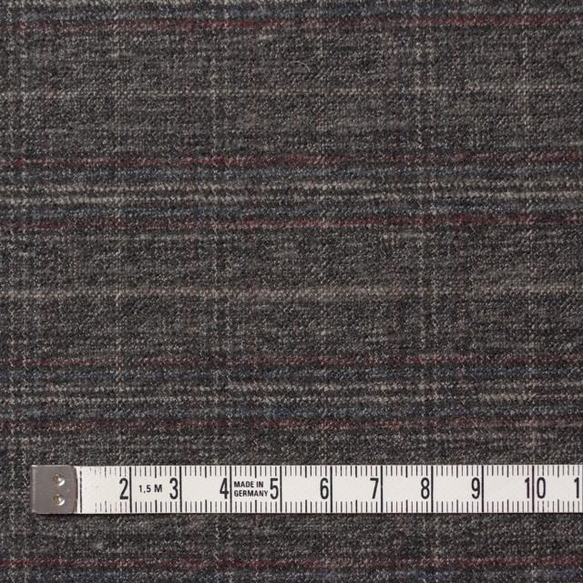ポリエステル&レーヨン混×チェック(グレイッシュブラウン)×サージストレッチ イメージ4