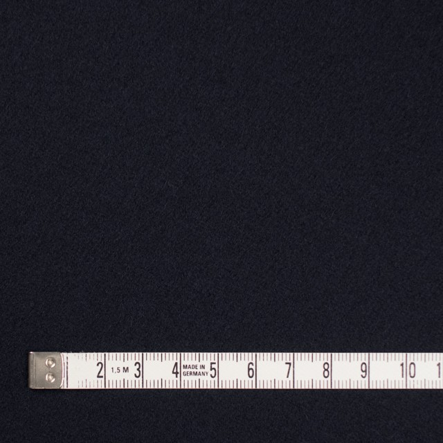 ウール×無地(ダークネイビー)×フラノ(フランネル) イメージ4