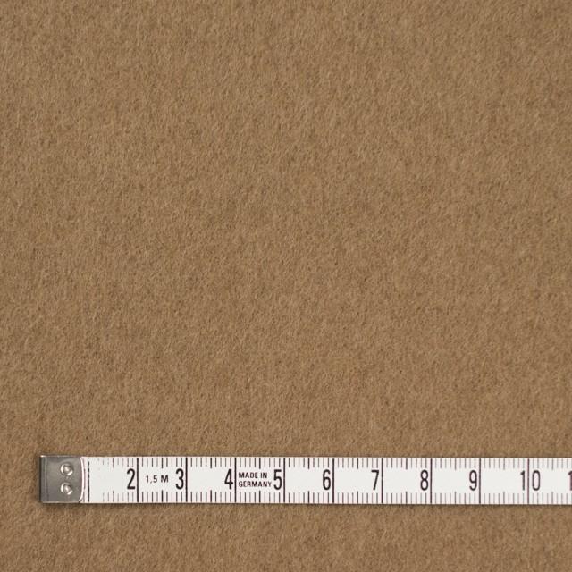 ウール&ナイロン×無地(キャメルベージュ)×ビーバー イメージ4