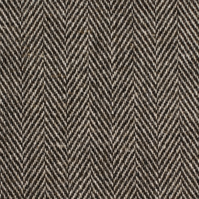 ウール&リネン混×ミックス(ベージュ&ブラウン)×ヘリンボーン イメージ1
