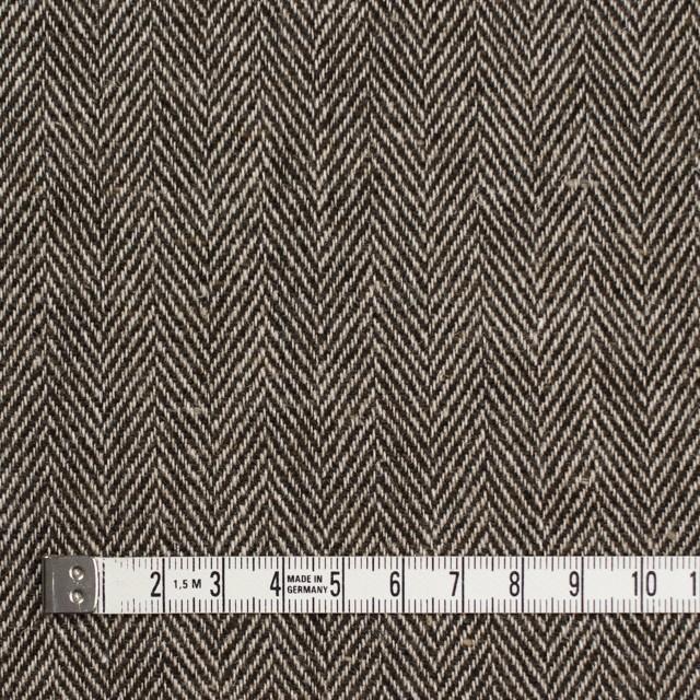 ウール&リネン混×ミックス(ベージュ&ブラウン)×ヘリンボーン イメージ4