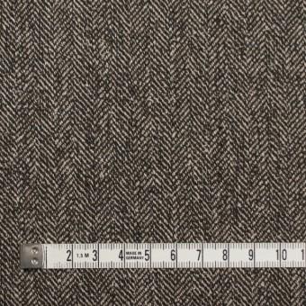 ウール&レーヨン混×ミックス(キナリ&ブラウン)×ヘリンボーン サムネイル4