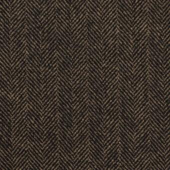 ウール&ポリエステル混×ミックス(キャメル&ブラック)×ヘリンボーン サムネイル1