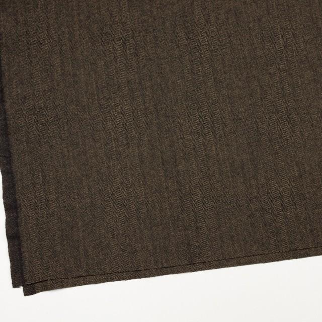 ウール&ポリエステル混×ミックス(キャメル&ブラック)×ヘリンボーン イメージ2