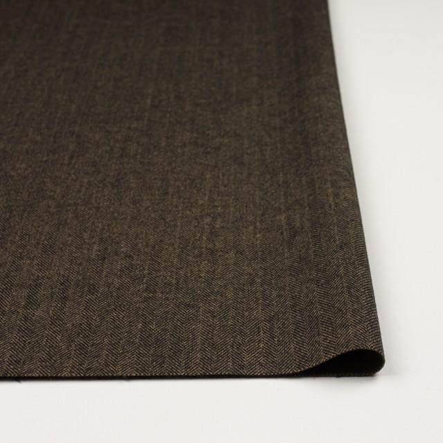 ウール&ポリエステル混×ミックス(キャメル&ブラック)×ヘリンボーン イメージ3