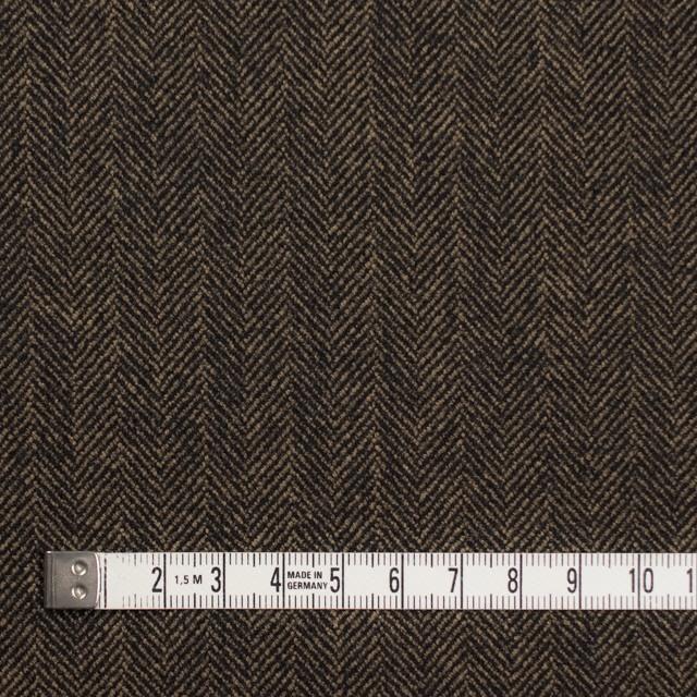 ウール&ポリエステル混×ミックス(キャメル&ブラック)×ヘリンボーン イメージ4