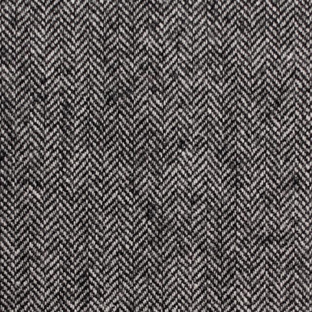 ウール×ミックス(アイボリー&ブラック)×ヘリンボーン イメージ1