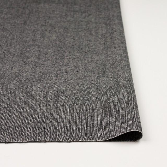 ウール×ミックス(アイボリー&ブラック)×ヘリンボーン イメージ3