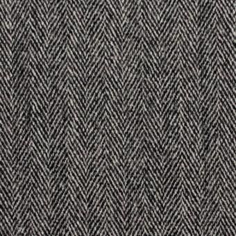 ウール&ポリウレタン×ミックス(アイボリー&ブラック)×ヘリンボーン・ストレッチ サムネイル1