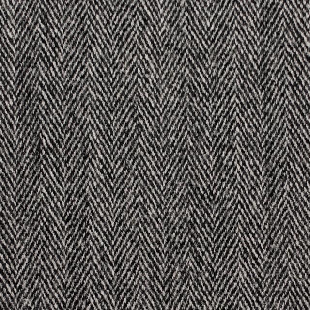 ウール&ポリウレタン×ミックス(アイボリー&ブラック)×ヘリンボーン・ストレッチ イメージ1