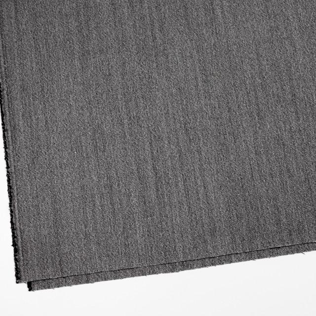 ウール&ポリウレタン×ミックス(アイボリー&ブラック)×ヘリンボーン・ストレッチ イメージ2