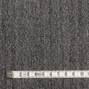 ウール&ポリウレタン×ミックス(アイボリー&ブラック)×ヘリンボーン・ストレッチ サムネイル4
