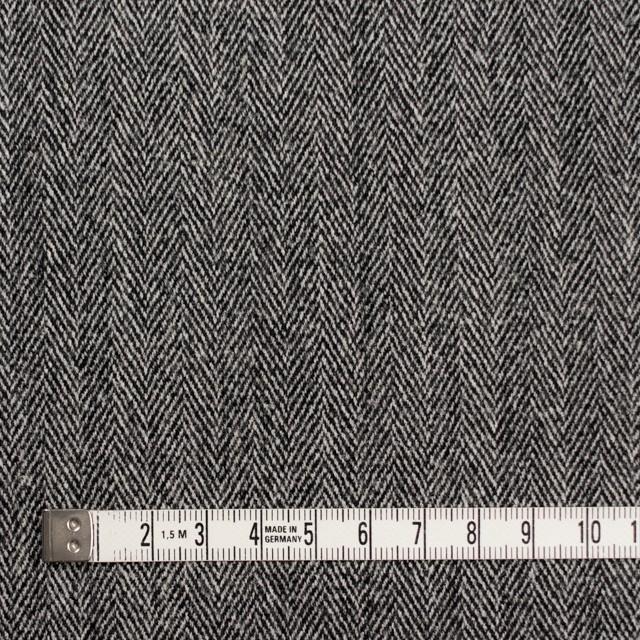 ウール&ポリウレタン×ミックス(アイボリー&ブラック)×ヘリンボーン・ストレッチ イメージ4