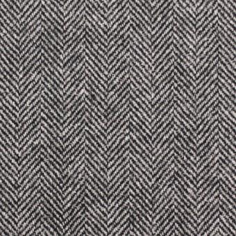 ウール&レーヨン混×ミックス(アイボリー&ブラック)×ヘリンボーン サムネイル1
