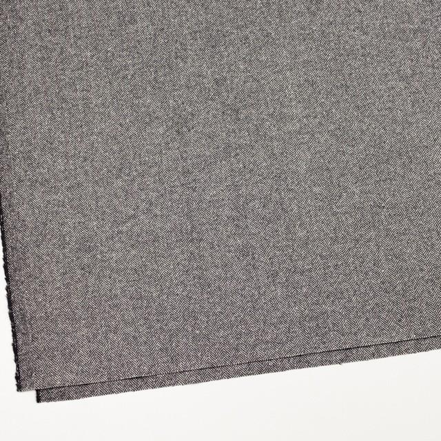 ウール&レーヨン混×ミックス(アイボリー&ブラック)×ヘリンボーン イメージ2