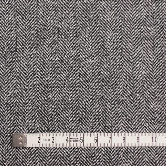 ウール&レーヨン混×ミックス(アイボリー&ブラック)×ヘリンボーン イメージ4