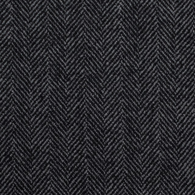 ウール&ポリエステル混×ミックス(グレー&ブラック)×ヘリンボーン・ストレッチ イメージ1