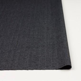 ウール&ポリエステル混×ミックス(グレー&ブラック)×ヘリンボーン・ストレッチ サムネイル3