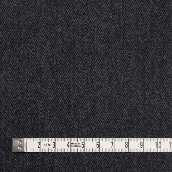 ウール&ポリエステル混×ミックス(グレー&ブラック)×ヘリンボーン・ストレッチ サムネイル4