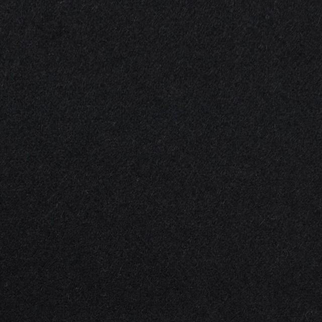 ウール×無地(ブラック)×フラノ(フランネル) イメージ1