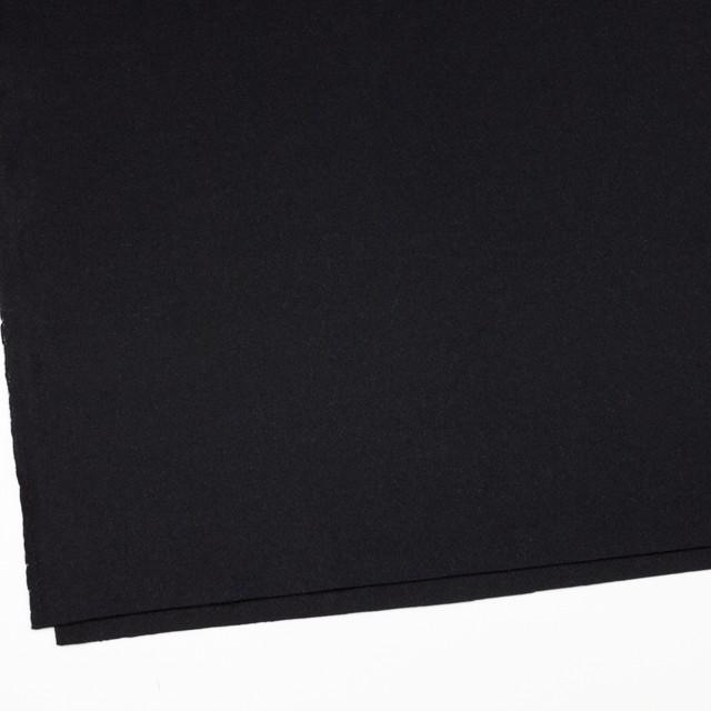 ウール&アンゴラ混×無地(ブラック)×フラノ(フランネル) イメージ2