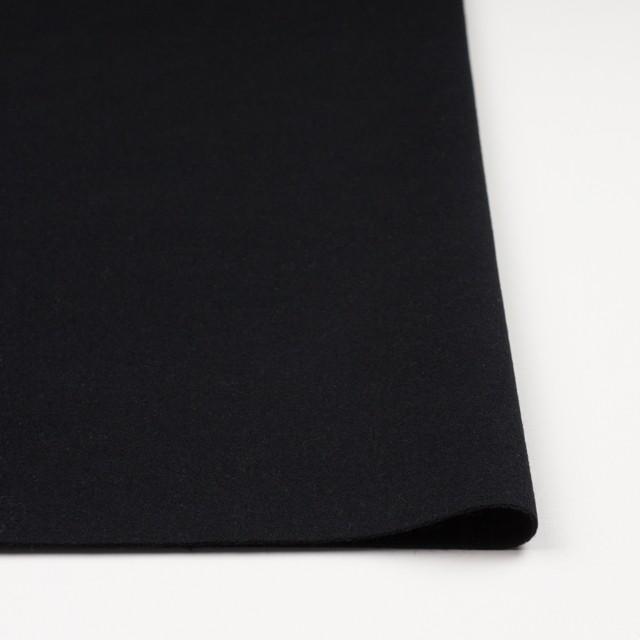 ウール&アンゴラ混×無地(ブラック)×フラノ(フランネル) イメージ3