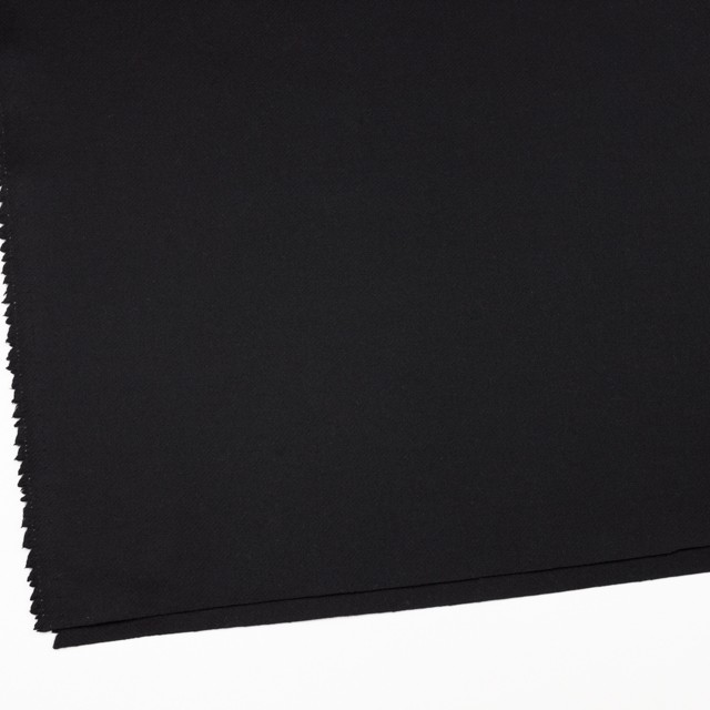 ウール×無地(ブラック)×カルゼ_イタリア製 イメージ2