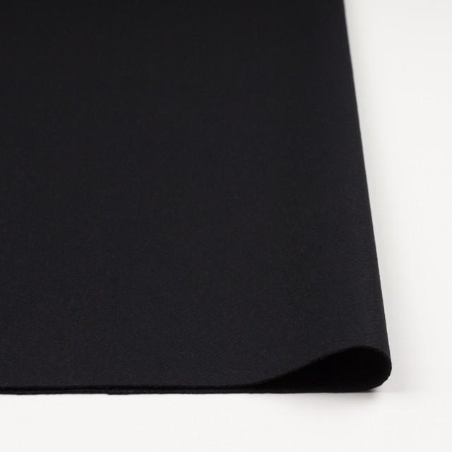 ウール×無地(ブラック)×カルゼ_イタリア製 イメージ3