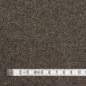 ウール&ポリウレタン×無地(ブラウンミックス)×サージストレッチ サムネイル4