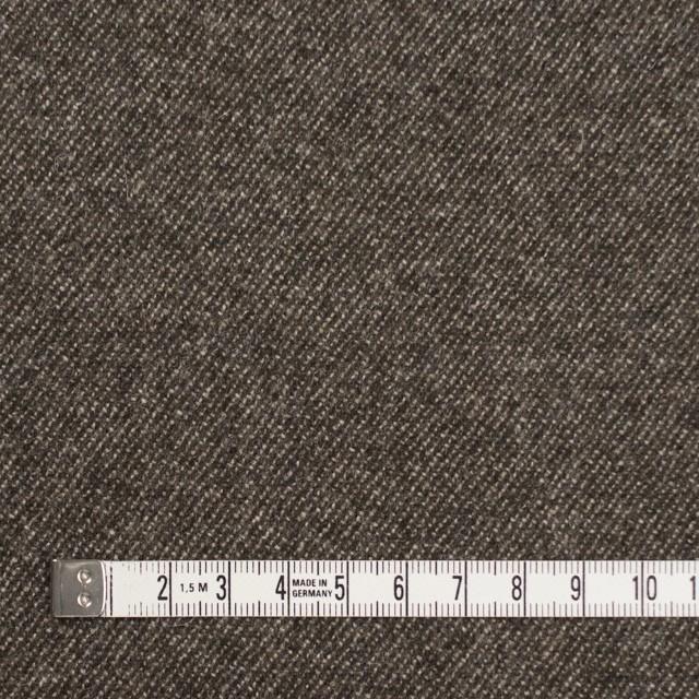 ウール&ポリウレタン×無地(ブラウンミックス)×サージストレッチ イメージ4