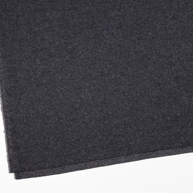 ウール&ナイロン混×無地(チャコールブラック)×サキソニーストレッチ イメージ2