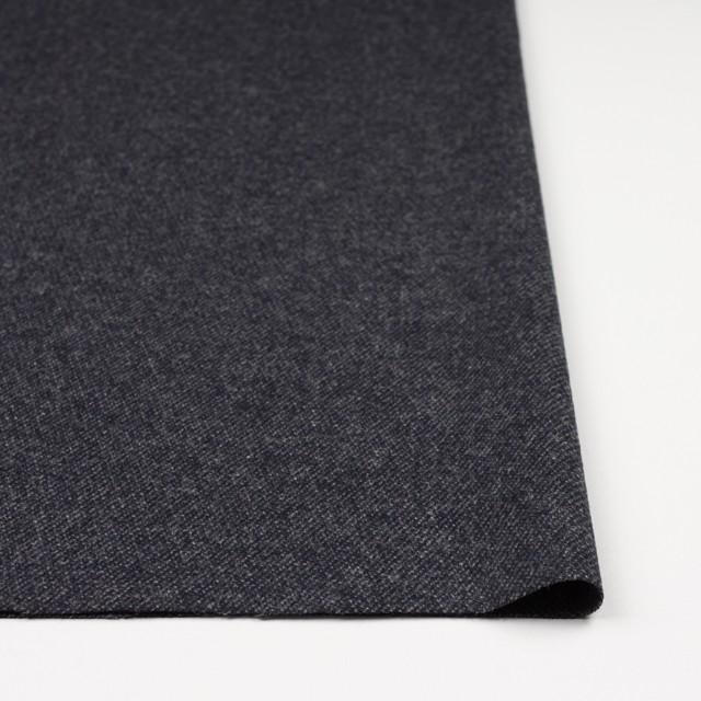 ウール&ナイロン混×無地(チャコールブラック)×サキソニーストレッチ イメージ3