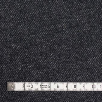 ウール&ナイロン混×無地(チャコールブラック)×サキソニーストレッチ サムネイル4