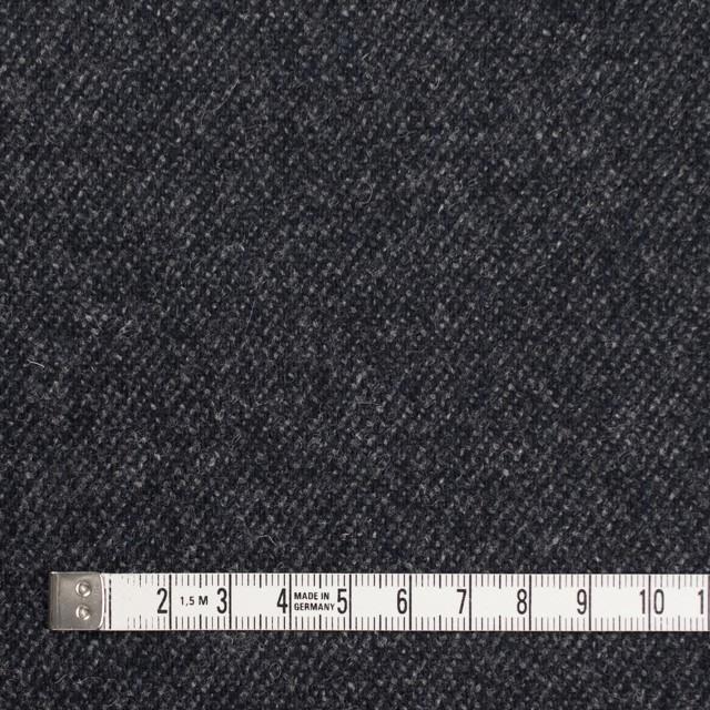 ウール&ナイロン混×無地(チャコールブラック)×サキソニーストレッチ イメージ4