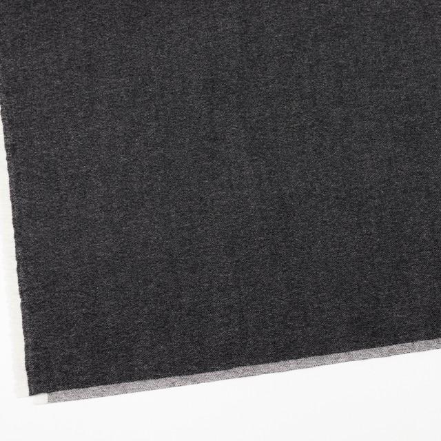 ウール&コットン混×無地(チャコールブラック)×ビエラストレッチ イメージ2