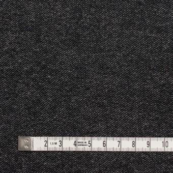 ウール&コットン混×無地(チャコールブラック)×ビエラストレッチ サムネイル4