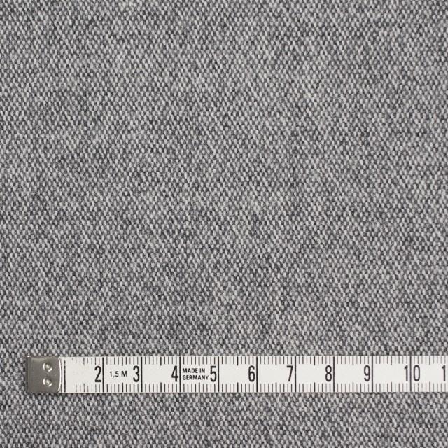 ウール&ポリエステル混×無地(グレー)×ツイードストレッチ イメージ4