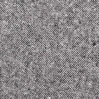 ウール&ポリエステル混×無地(チャコールグレー)×ツイード サムネイル1