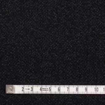 ウール&コットン×無地(ブラック)×ツイード サムネイル4