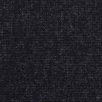 ウール&ポリエステル混×無地(チャコールブラック)×ツイード
