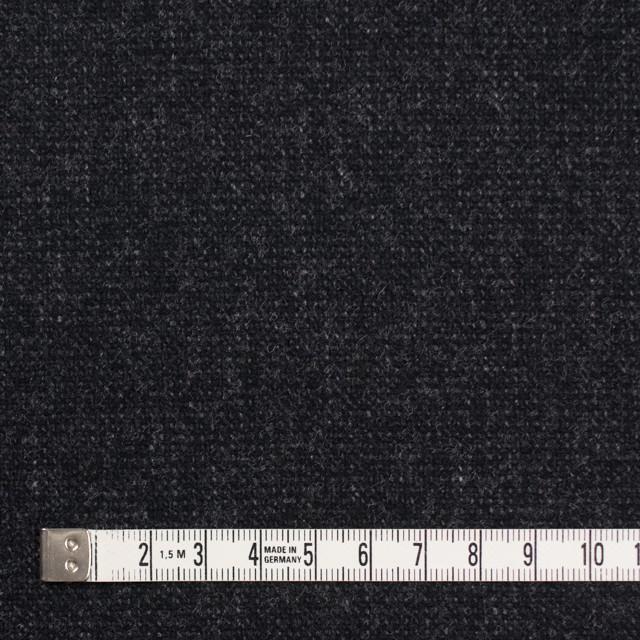 ウール&ポリエステル混×無地(チャコールブラック)×ツイード イメージ4