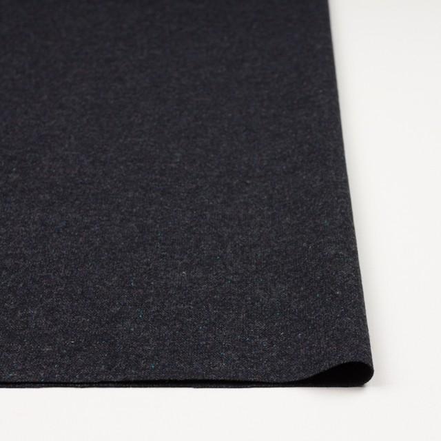 ウール&ナイロン混×無地(チャコールブラック)×ツイードストレッチ イメージ3