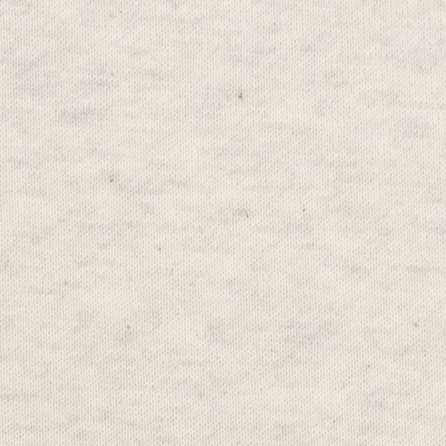 コットン×無地(アイボリー)×裏毛ニット(裏面起毛) イメージ1